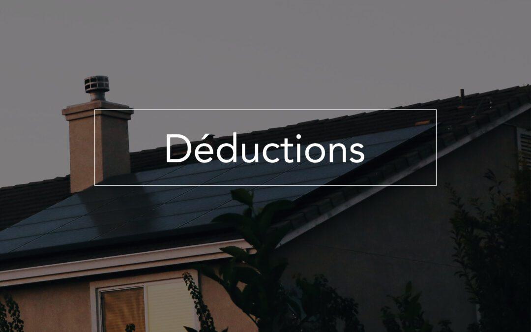 Déductions: 50% de restructuration, 65% d'efficacité